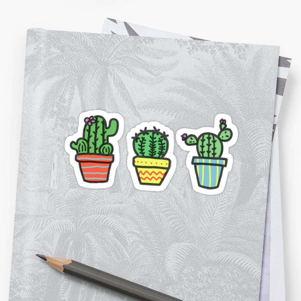 Cute Cactus Trio by GhostBoiz