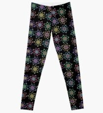 Gold - Silver Atomic Structure pattern Leggings