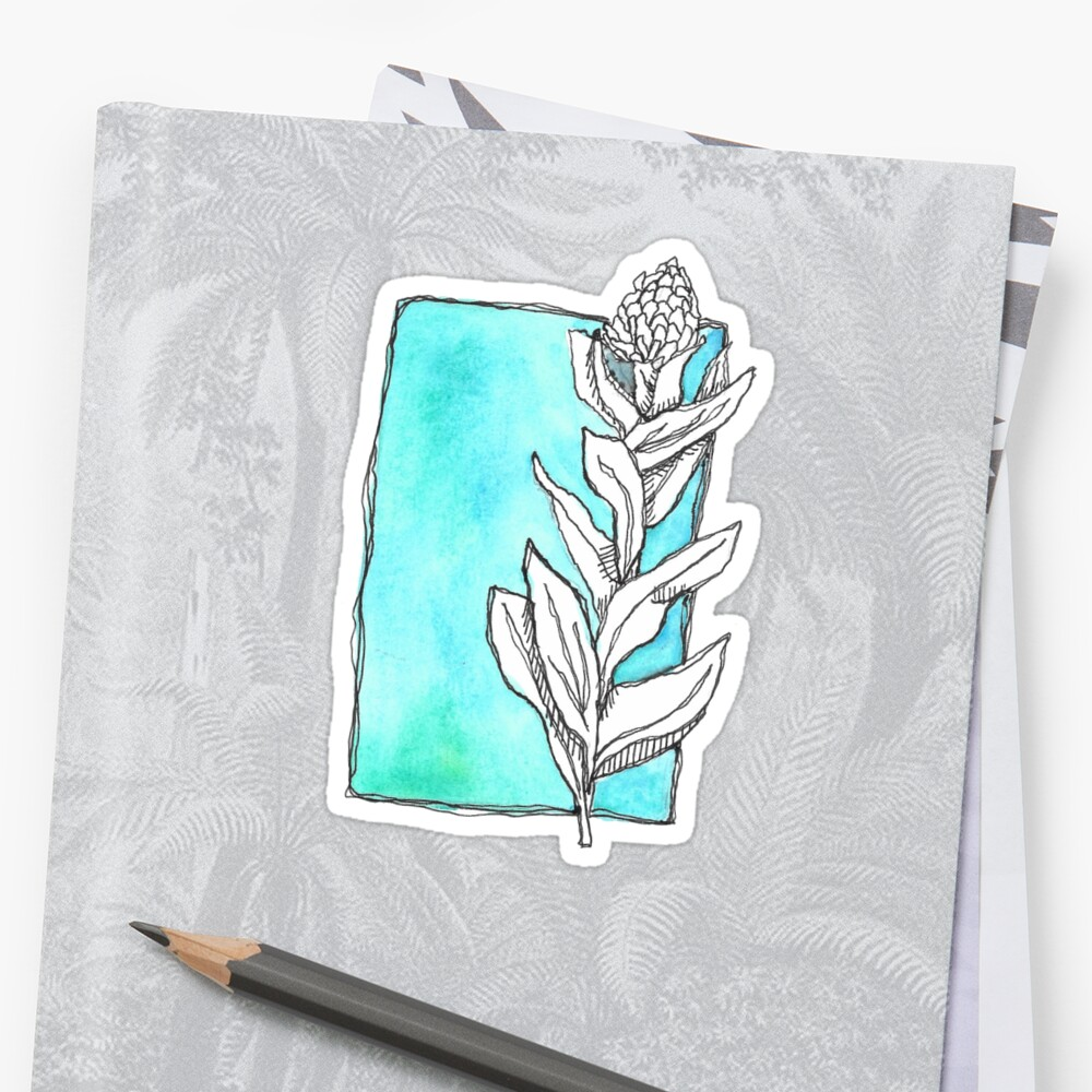 Green Watercolor Flower by calyla