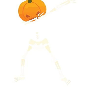 Funny Dabbing Skeleton Pumpkin Halloween Dab T-Shirt by mrwater12vn