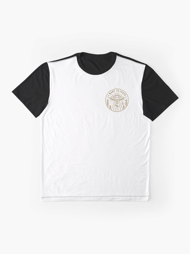 Alternate view of I Want To Leave - Pocket Graphic T-Shirt