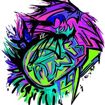 Graffiti Sick Dragon by katie-rosell