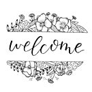Welcome Florals by letteryourlife