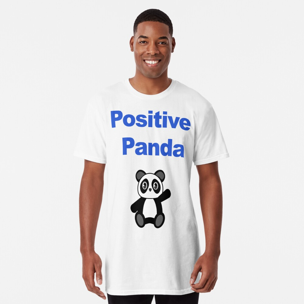 Positive Panda for Support Long T-Shirt Front