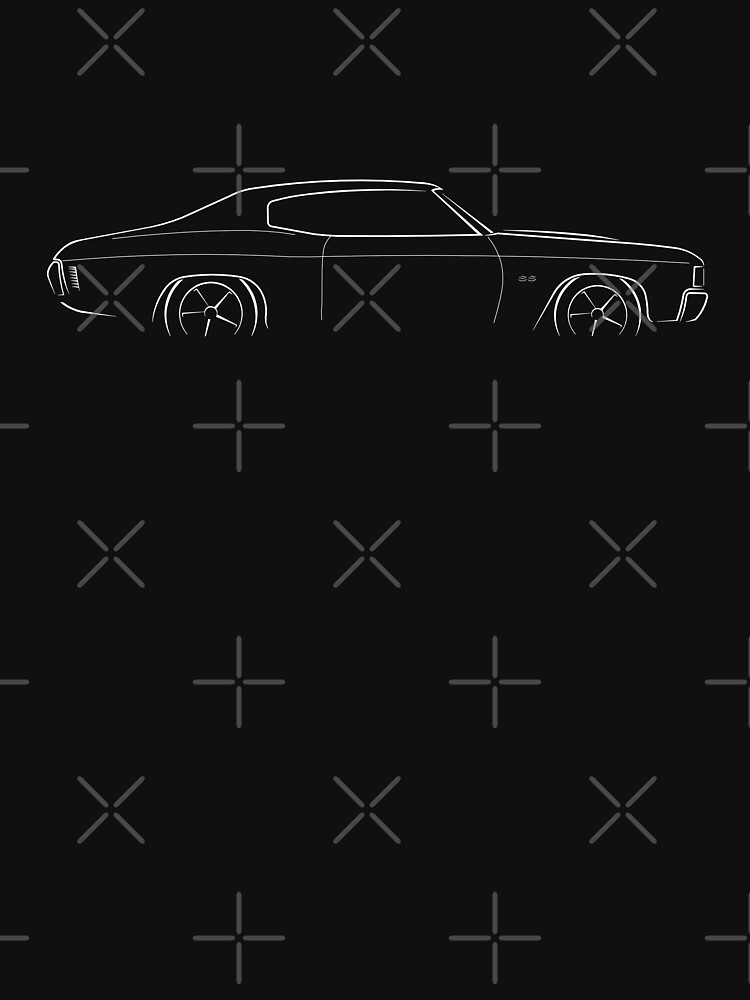 1972 Chevy Chevelle - profile stencil, white by mal-photography