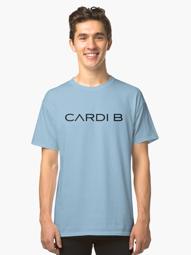 "Cardi B Merch ""Black Logo"" Classic T-Shirt Front"