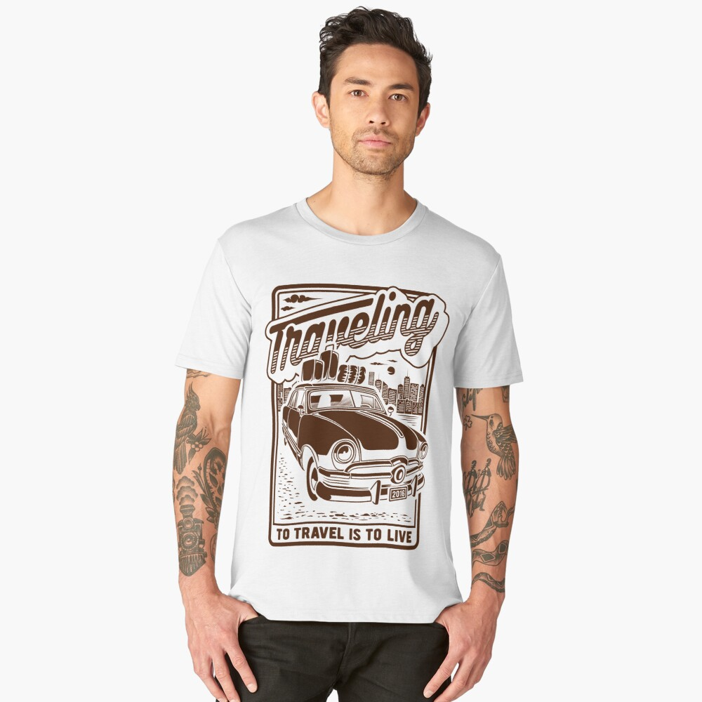 To travel is to live Men's Premium T-Shirt Front