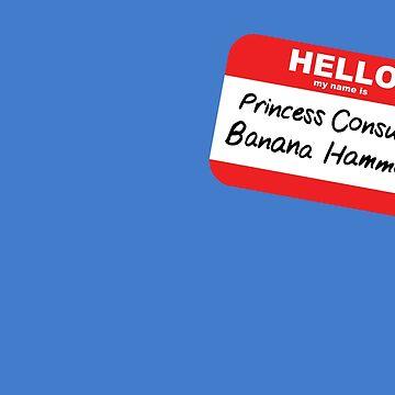 Princess Consuela Banana Hammock Friends Name Tag by magentasponge