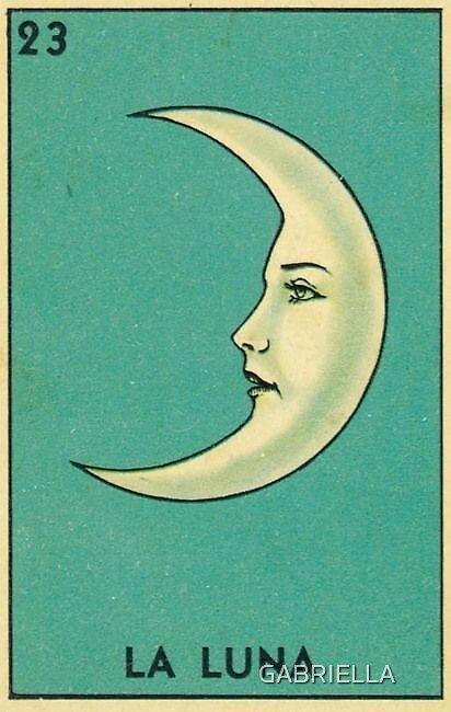 """La Luna"" Sticker by Gabriella G"