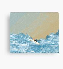 Dog Surf II Canvas Print