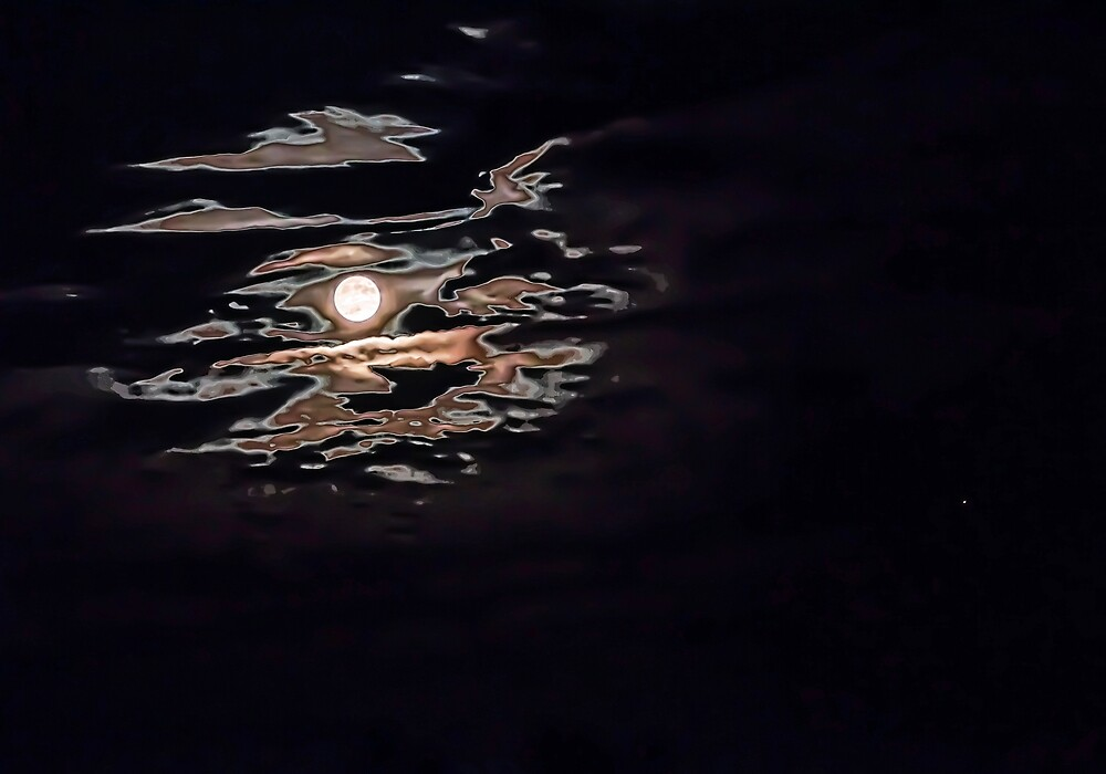 Moon and Mars Abstract by Kenneth Haley