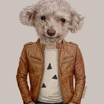 Smile dog boy by windzao
