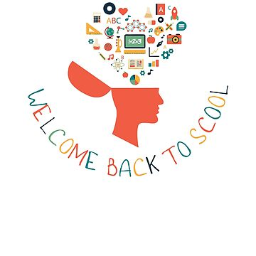 Back To School Design Welcome Back To School Happy First Day of School Design by kirillpanteleev