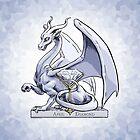 April Diamond Dragon Birthstone Illustration by Stephanie Smith