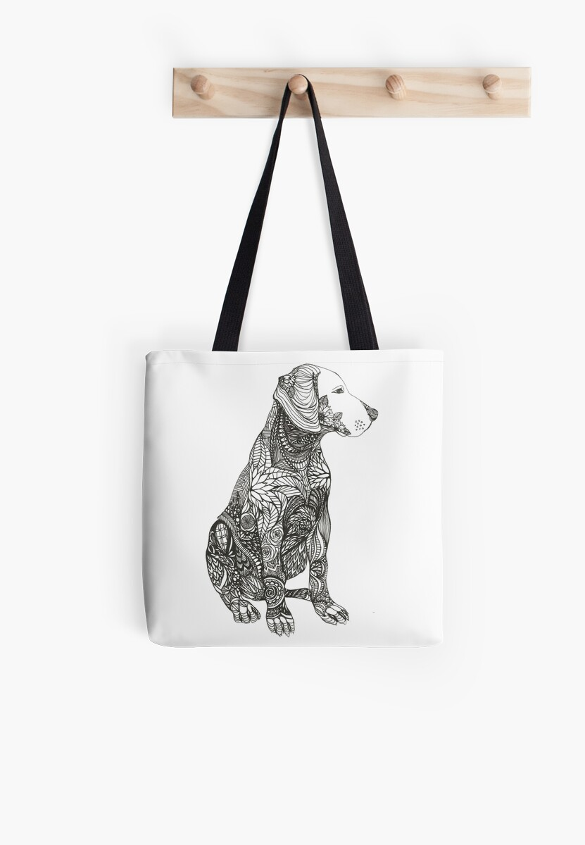 Patterned Dog Print by TheLittleInkery