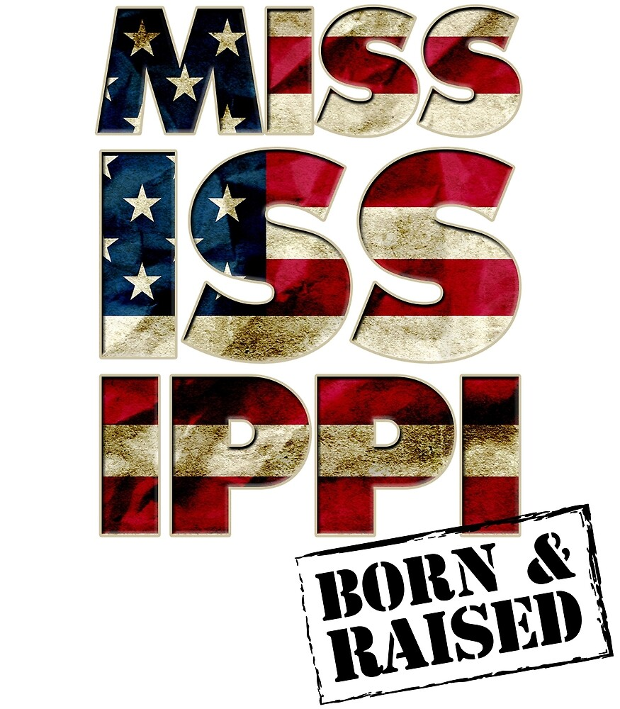 Mississippi Fan Gift Sports Football US Flag Proud Strong Awesome Design (5) (2) by djpraxis