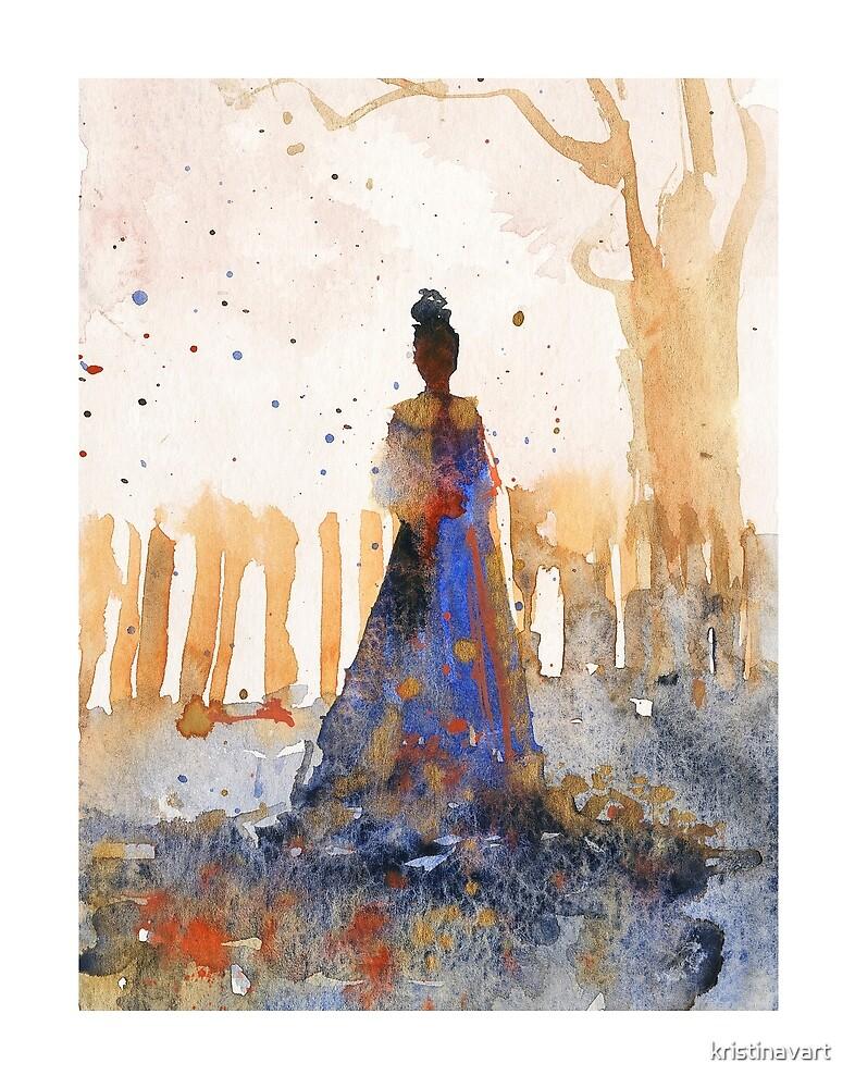 Golden Memory Watercolors by kristinavart