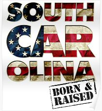 South Carolina Fan Gift Sports Football US Flag Proud Strong Awesome Design (8) (2) Poster