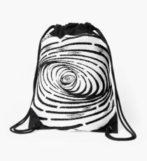 Swirl Wave Maze by Yonatan Frimer Drawstring Bag
