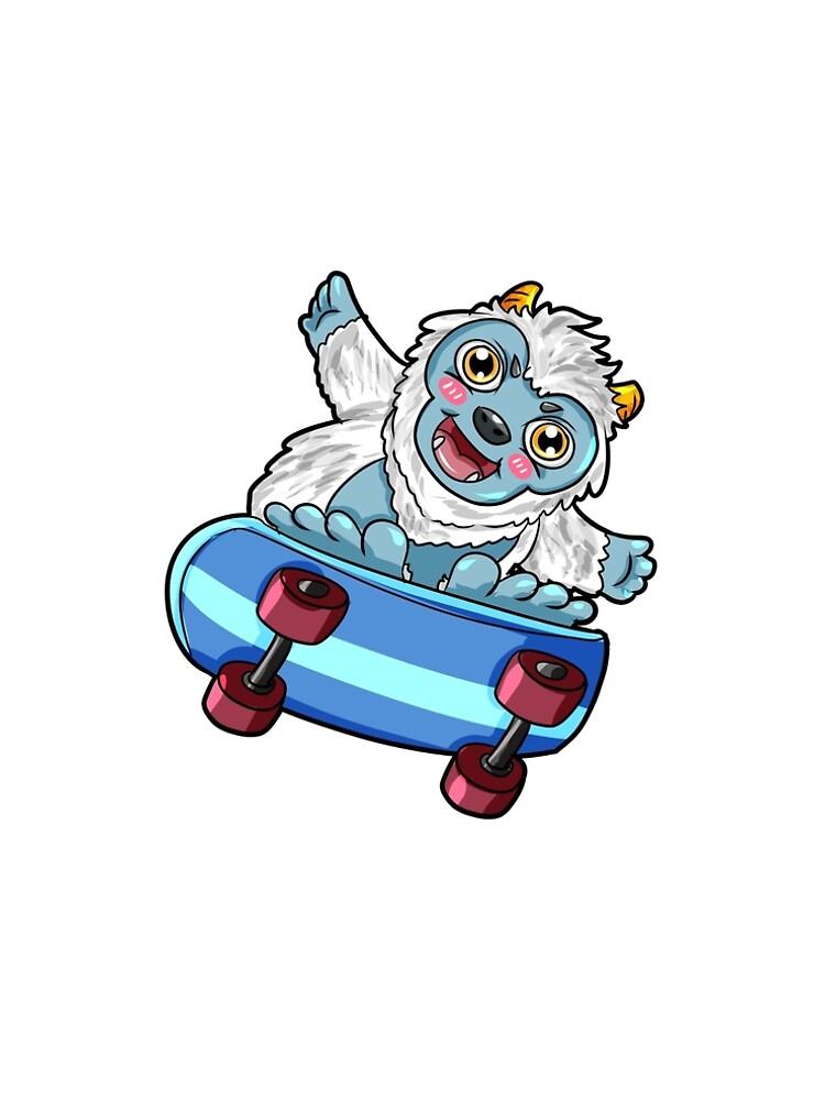 Yeti Skateboard Sasquatch by Moonpie90