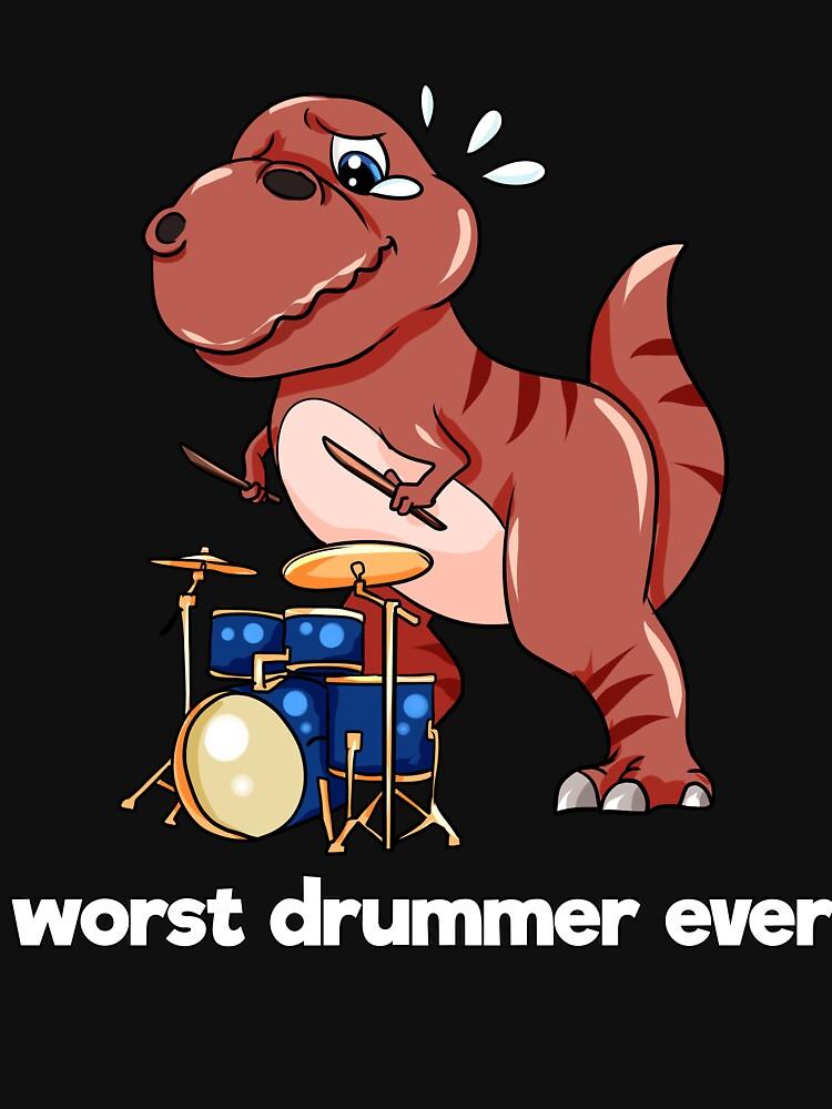 Drummer Drums Dinosaur Dino by Moonpie90