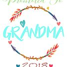 Promoted to Grandma 2018 T-Shirt  by danskflowers