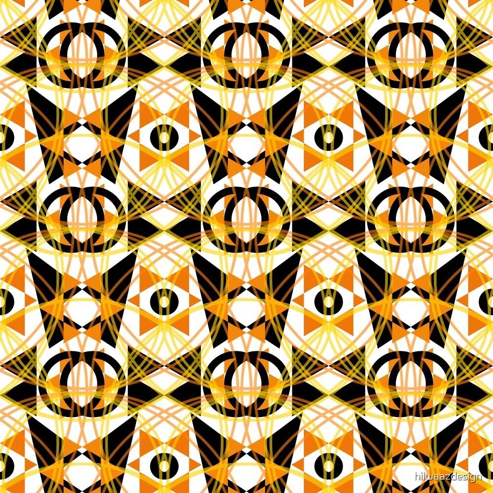 Geometrix Mod in Orange Swirls by hilwaazdesign