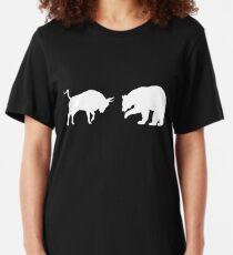 Bull vs. Bear Stock Market Stock Investing Shirt Slim Fit T-Shirt