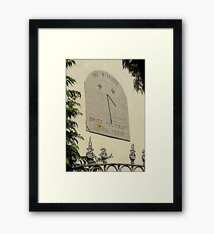 Omnes vulnerant, ultima necat.... Framed Print