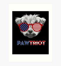 bbca99a38 Pawtriot Shih Tzu tShirt 4th of July Shirt Men Women Gift Art Print