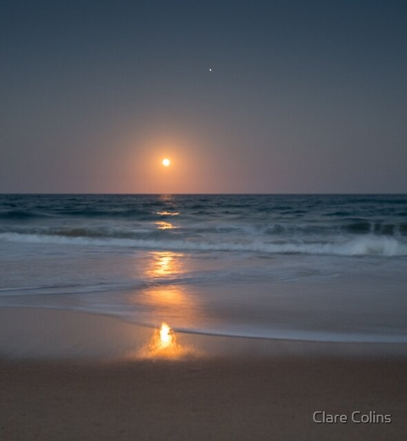 Moonrise at Mylestrom by Clare Colins