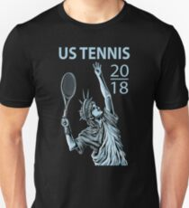 Amerikanisches US Open-Tennis 2018 NYC - New York Slim Fit T-Shirt