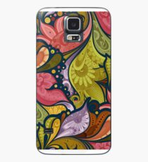 Blumengekritzel - Iphone u. Samsung-Galaxie-Kästen Hülle & Klebefolie für Samsung Galaxy