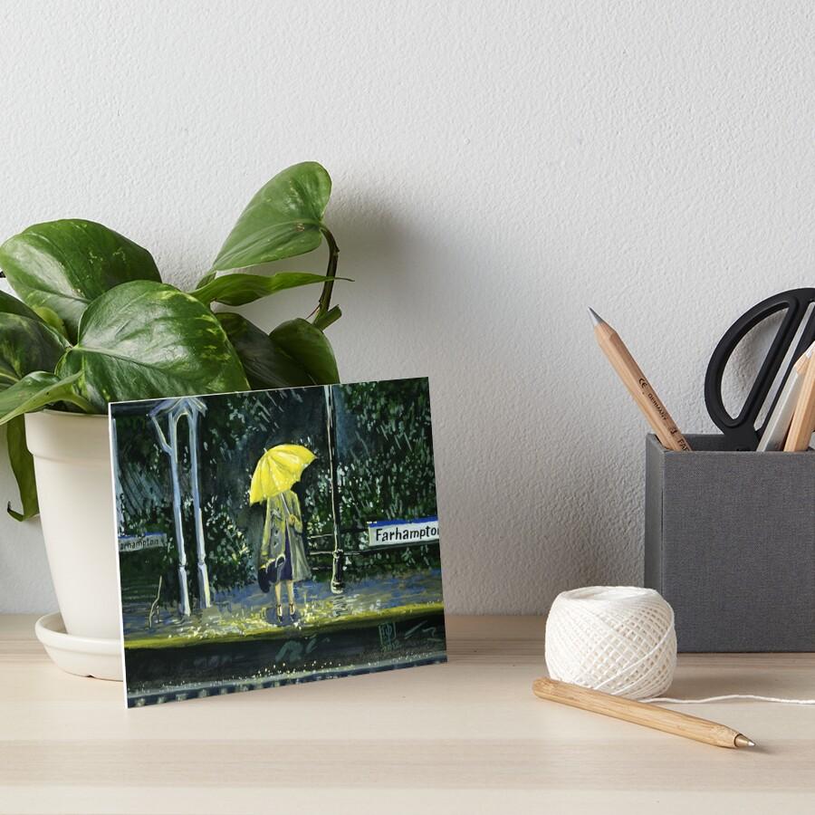 Yellow umbrella part 2 Art Board Print