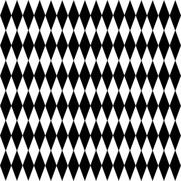 Black And White Diamond Pattern by biglnet