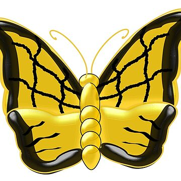 Yellow Butterfly Design by biglnet