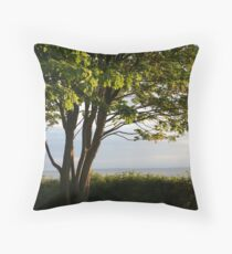Sun-Lit Tree Throw Pillow