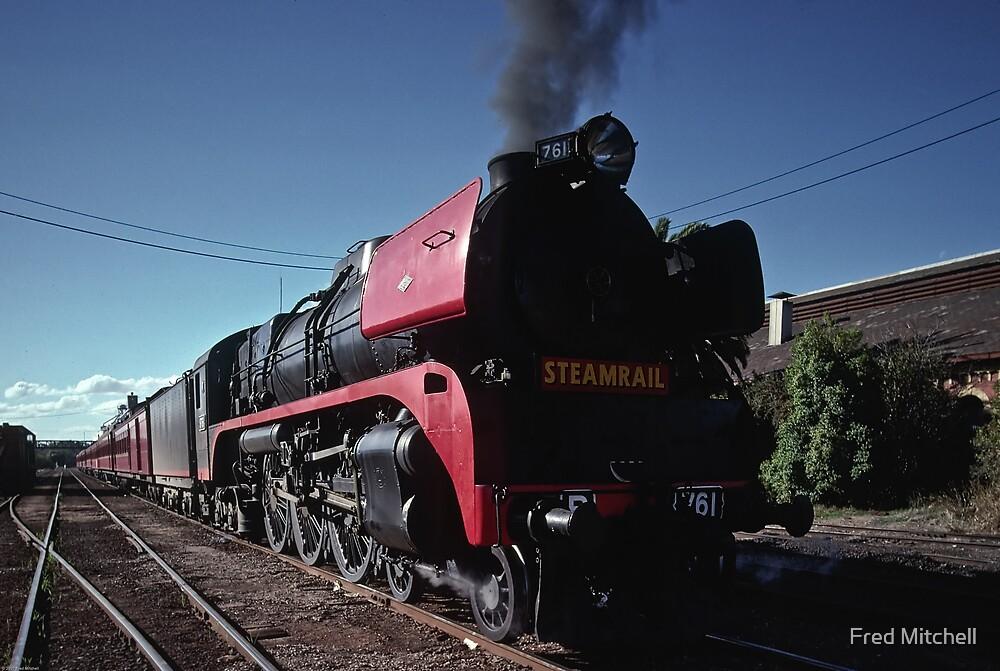 R type steam Locomotive Echuca station 19880424 0011 by Fred Mitchell