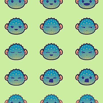 The Many Faces of a Pufferfish by ZaryaKiqo