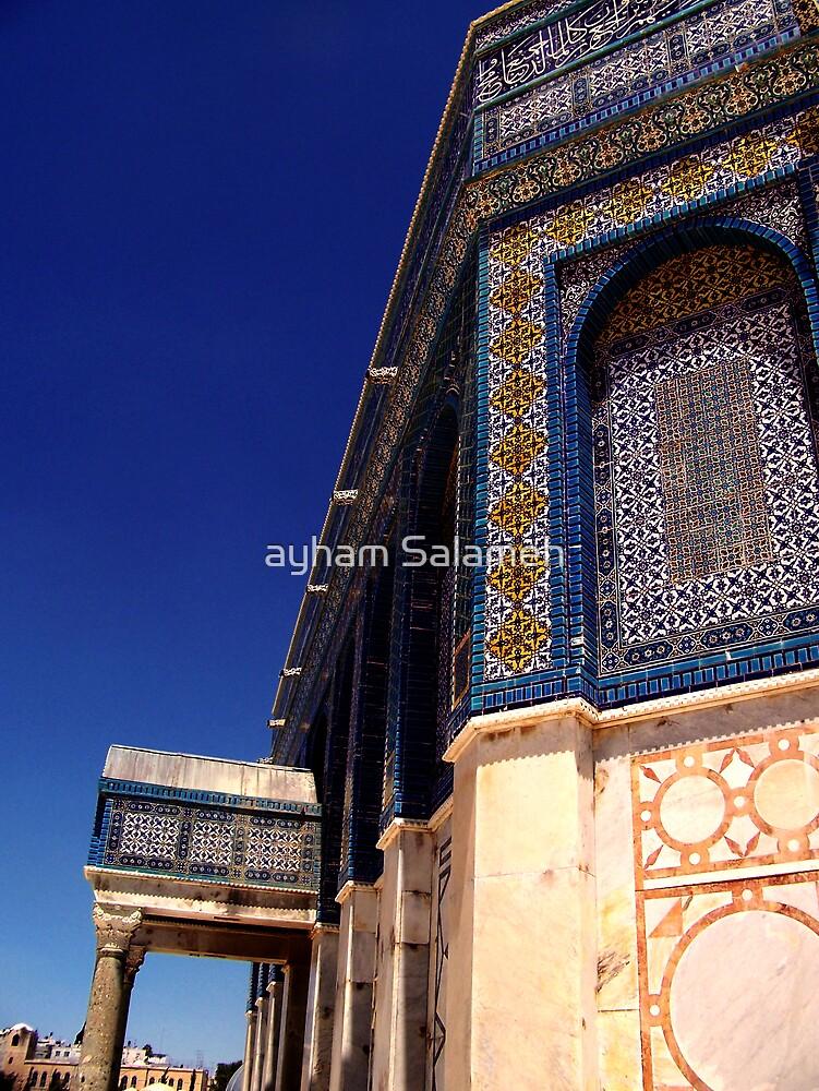 Blue Arabesque II by ayham Salameh