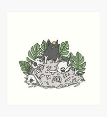 Graveyard kitty Art Print