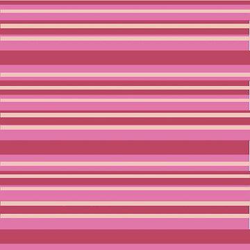 Pink & Yellow Stripes  by Manitarka