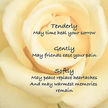 Sympathy Quote on Yellow Rose #1 by Frogvision