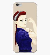 Vintage tough girl iPhone Case