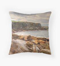 Coastal Cliffs Throw Pillow