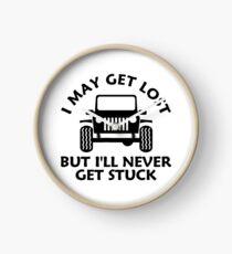 Get Lost Off Road 4wd 4x4 Funny SUV Mud Rock Clock