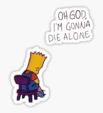 Sad suicide Simpson Bart art Sticker