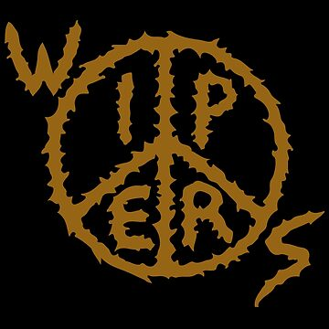 WIPERS (punk band) Logo Gold by reydefine