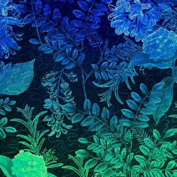 green & blue flowers by MUMtees