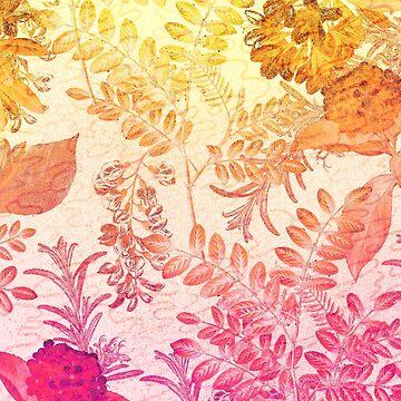 pink & orange flowers by MUMtees